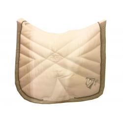 Tapis dressage Blanc-cuir motif