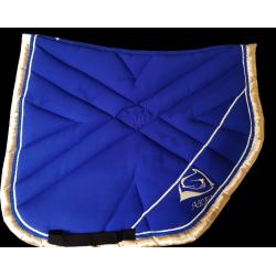 Tapis Sport Bleu Roi-Crème